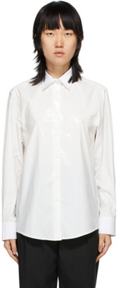 we11done White Glossy Classic Shirt