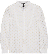 Needle & Thread Ditsy Embroidered Cotton Blouse - Off-white