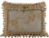 "Sweet Dreams Crystal Palace Organza/Ribbon Rosette Pillow, 13"" x 17"""