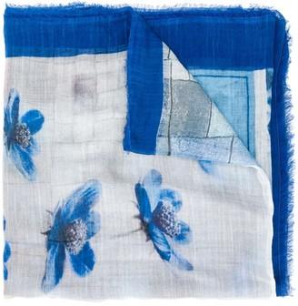 Faliero Sarti Blue for You floral-print scarf