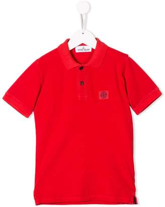 Stone Island Junior chest logo polo shirt