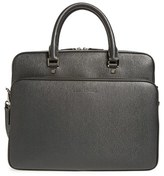 Salvatore Ferragamo Men's 'Revival' Calfskin Leather Briefcase - Grey
