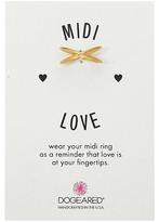 Dogeared Midi Love X Ring