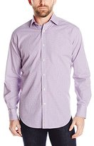 Thomas Dean Men's 2 Button SPRD Collar Dobby Check