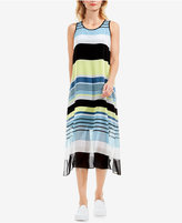Vince Camuto Striped Midi Dress