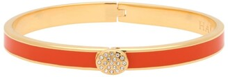 Halcyon Days Gold And Enamel Pave Button Bangle