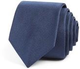 BOSS Textured Solid Skinny Tie