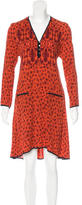 Veronica Beard Silk Leopard Print Dress