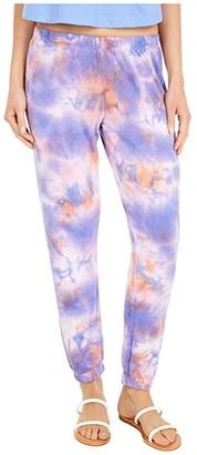 Spiritual Gangster Perfect Sweatpants (Purple/Sherbert/Lavender Tie-Dye) Women's Casual Pants