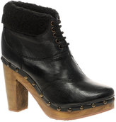 Lace Up Fur Lined Clog Boot