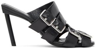 Balenciaga Black Buckle Mules