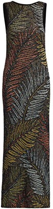 Missoni Metallic Leaves Knit Gown