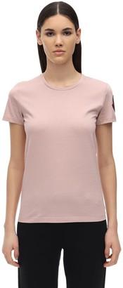 Moncler Cotton Jersey T-shirt W/ Logo Patch