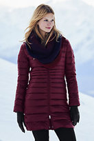Classic Women's Petite Lightweight Down Coat-Burgundy