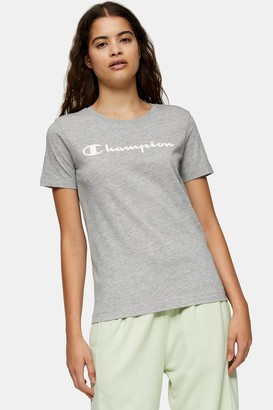 Champion Womens Grey Light Cotton T-Shirt By Grey