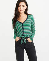 Button-Up Tie-Front Top