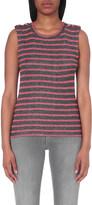 Claudie Pierlot Plus Size Tory metallic cotton-blend top