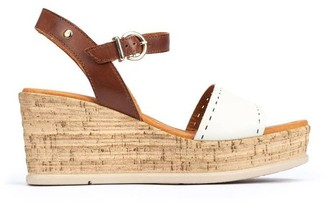 PIKOLINOS Leather Ankle Strap Wedges - Miranda