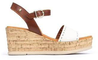 PIKOLINOS Leather Ankle Strap Wedges - Miranda