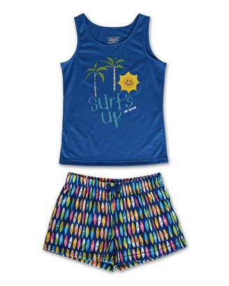 Joe Boxer Girls Blue Surf Tee and Short Set