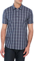 John Varvatos Short Sleeve Plaid Shirt