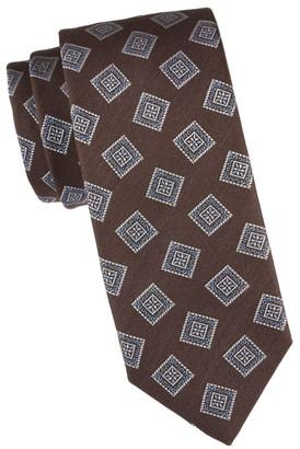 Canali Square Medallion Silk Tie