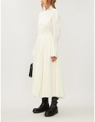 Selfridges Phaedo Flared cotton maxi dress