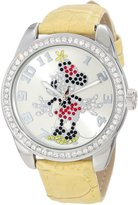 Ingersoll Women's Disney IND25658 Yellow Polyurethane Quartz Watch with Dial