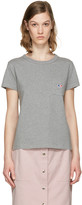 MAISON KITSUNÉ Grey Fox Patch T-shirt