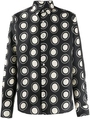 Ami Dot-Print Button-Up Shirt