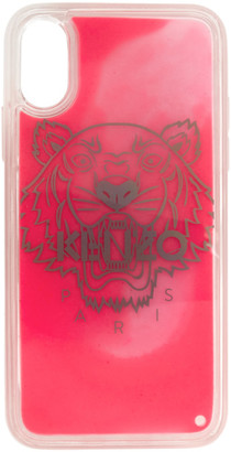 Kenzo Pink Glow-In-The-Dark Tiger Head iPhone X/XS Case