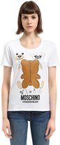 Moschino Underbear Print Cotton Jersey T-Shirt