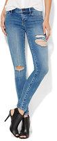 New York & Co. Soho Jeans - SuperStretch Destroyed Legging - Wild Blue Wash