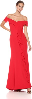 Carmen Marc Valvo Women's Off The Off The Shoulder Gown