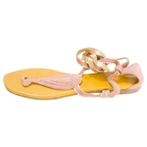 Hermes Pink Leather Sandals