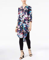 Cable & Gauge Printed High-Low Tunic