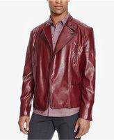 Kenneth Cole Reaction Men's Crimson Faux-Leather Moto Jacket