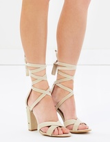 Spurr Riva Lace-Up Block Heels