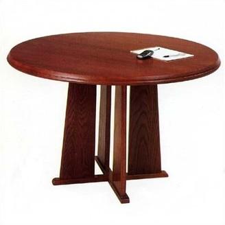 Lesro Contemporary Series Circular Conference Table Lesro Finish: Mahogany, Profile: Radius, Size: 4' L