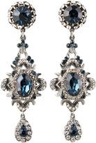 Jose & Maria Barrera Blue Crystal Clip Earrings