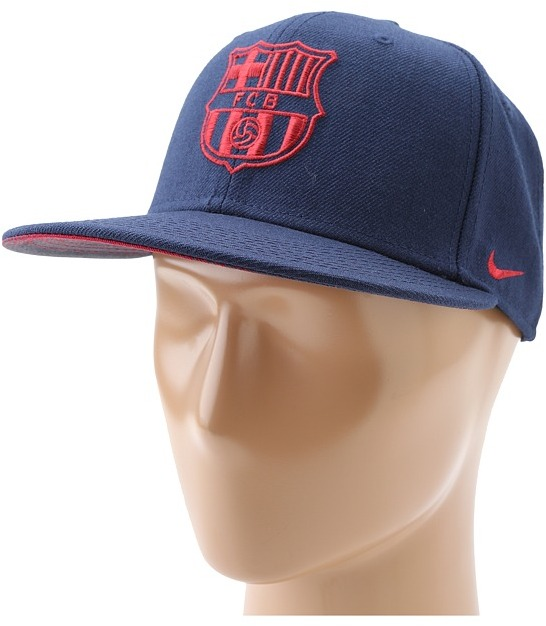 Nike FCB Authentic True Snapback (Midnight Navy/Storm Red) - Hats