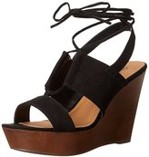 Qupid Women's Gimmick-31AX Wedge Sandal