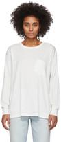 Alexander Wang White Tilted Pocket Long Sleeve T-Shirt