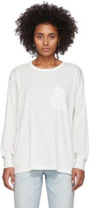 Alexander Wang White Tilted Pocket Long Sleeve T-Shirt