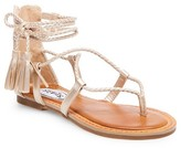 Stevies Girls' #SHOEGOALS Tassel Gladiator Sandals - Gold