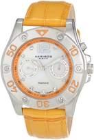 Akribos XXIV Women's AKR483OR Diamond Multi-Function Watch
