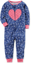 Carter's 1-Pc. Floral-Print Heart Cotton Pajamas, Baby Girls (0-24 months)
