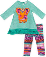 Rare Editions 2-Pc. Elephant Tunic and Printed Leggings, Baby Girls (0-24 months)