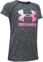 Under Armour Heathered Novelty Big Logo T-Shirt, Big Girls (7-16)