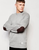 Bellfield Oathklaw Knited Sweater With Elbow Patches